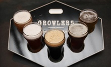 One Beer Flight and Bistro Food for Two or Two Flights and Bistro Food for Four at Growlers Beer Bistro (Up to 56% Off)
