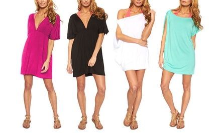 Women's Draped V-Neck Beach Tunic