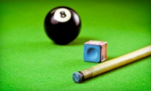 $15 for Two Hours of Pool with $20 Worth of Pub Food and Drinks at Pink Galleon Billiards and Games ($39 Value)