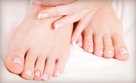 One or Two Spa Manicures and Deluxe Pedicures at Belle Elan Salon (Up to 55% Off)
