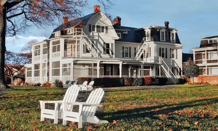 groupon daily deal - 1- or 2-Night Stay for Two at Sandaway Waterfront Lodging in Oxford, MD. Combine Multiple Nights.