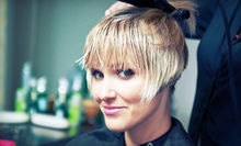 Haircut with Option of Deep-Conditioning Treatment, Base Color, or Partial Highlights at Applauze Salon (Up to 55% Off)