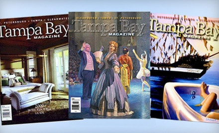 "$12 for a Three-Year ""Tampa Bay Magazine"" Subscription ($26 Value)"