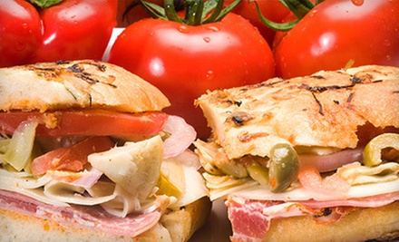 5 or 10 Deli Sandwiches at DeRosa Imports (Half Off)
