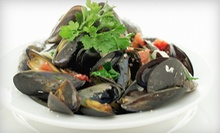 $17 for Mussels and Fries with Martinis for Two at Majestic Restaurant ($34 Value)