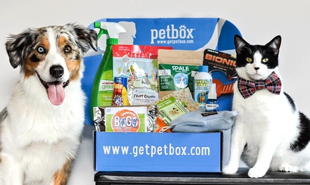 1-, 3-, or 6-Month Customizable Deluxe Subscription to PetBox (Up to 50% Off). Free Shipping from PetBox.