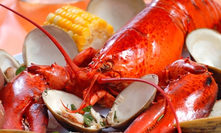 New England–Style Clam Bake  or Surf 'n' Turf Prix Fixe Meal for Two  at Hooked (Up to 38% Off)