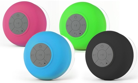Source Force Waterproof Bluetooth Shower Speakers with Mic and Controls