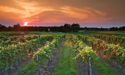 groupon daily deal - Gift a 1-Night Stay for Two with Optional Breakfast and Wine Tour Package at Tuscany House Hotel in Egg Harbor City, NJ