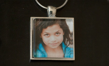 Custom Photo Pendant or $12 for $24 Toward Handmade Jewelry from Chris & Courtney