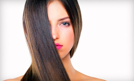 Haircut, Partial Highlights, Keratin Treatment, or Three Blowouts at Citrus Spa & Salon (Up to 57% Off)