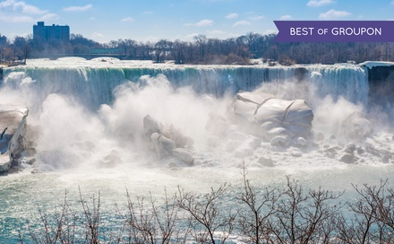 groupon daily deal - Stay at Embassy Suites by Hilton Niagara Falls in Ontario. Dates into June.
