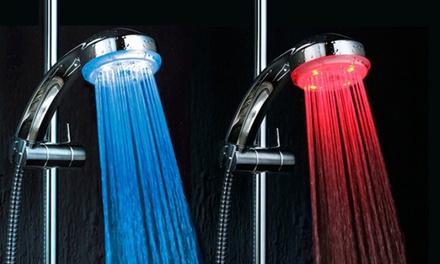 Torneira ou chuveiro com luz LED que muda de cor com a temperatura desde 12,90€