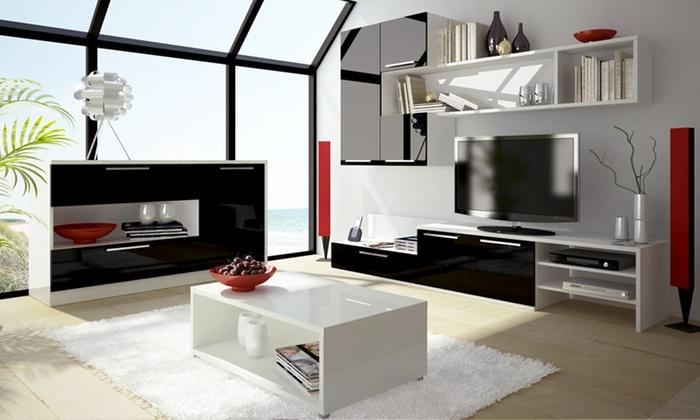 soliving table basse buffet meuble tv et ensemble de salon au choix d s 59 90 livraison. Black Bedroom Furniture Sets. Home Design Ideas