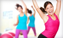 10 or 20 Zumba, Yoga, or Kickboxing Classes at Fiesta Dance N' Fitness (Up to 59% Off)