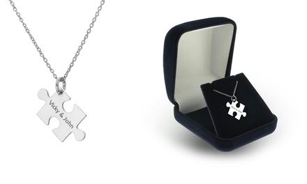 Colar com peça de puzzle gravada por 14,99€ ou dois por 21,99€