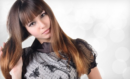 Haircut and Conditioning Package with Optional Highlights or Color at DermStore Spa Salon Shop (Up to 74% Off)