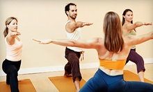 Six-Week Yoga Intro Course, 10 Yoga Classes, or One Month of Unlimited Classes at Purple Om Yoga (Up to 68% Off)