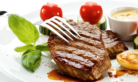Steak and Seafood for Dinner for Two or Four at Opa Opa Steakhouse and Brewery (43% Off)
