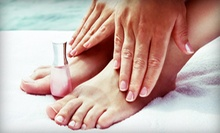 One or Three Shellac Manicures with Spa Pedicures at Desraes Nail Studio (Up to 56% Off)