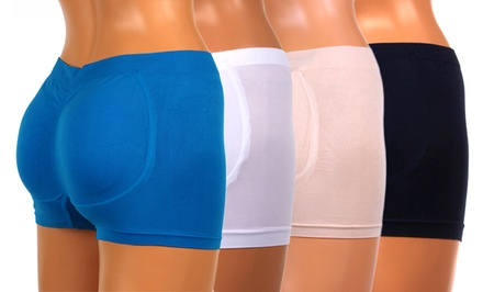 2-Pack of Booty-Booster Seamless Shaping Boyshorts. Multiple Sets Available.