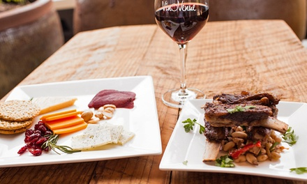$29 for a Meal for Two with Bottle of Wine, Cheese, and Small Plate at Vino Venue (Up to $62 Value)