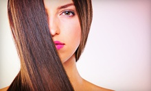 One or Two Keratin Treatments, or One Keratin Treatment with Haircut at Trinity Hair Designs (Up to 70% Off)