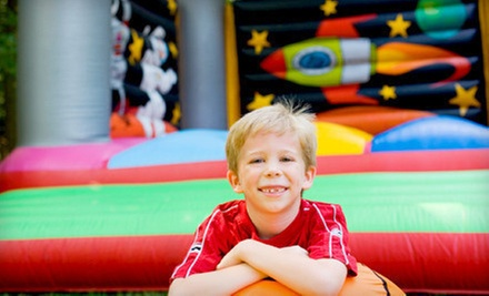 Two-Hour Bounce-House Play Session for Two Kids, or Five Open-Bounce Sessions at BounceU (Half Off)