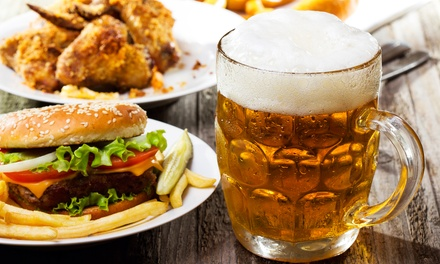 Pub Food at The Big River Brew Pub (50% Off). Two Options Available.