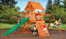 Three or Six Kids' Indoor-Playground Sessions with Juice and Cookies at Wood Kingdom of Brookhaven (Up to 54% Off)