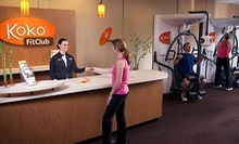 One- or Three-Month FitClub Membership with Custom Electronic Fitness-Goal Tracking at Koko FitClub (Up to 74% Off)