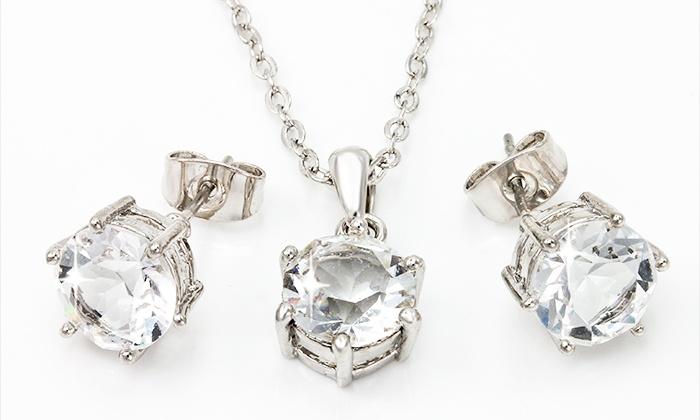 Conjunto de colar e brincos com Swarovski Elements desde 19,99€ ou com pulseira por 29,99€