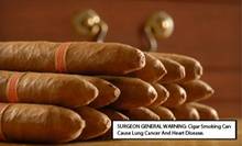 Humidor with 10 or 25 Cigars, Cutter, and Matches, or $15 for $30 Worth of Cigars at Cigar Palace