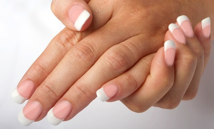 Pink-and-White Acrylic Nails or White-Tip or Full-Color Acrylic Nails at Pink Nails and Spa (Up to 52% Off)