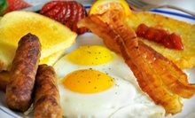 American Food for Breakfast or Lunch at Hillery Street Restaurant &amp; Grill (52% Off). Two Options Available.