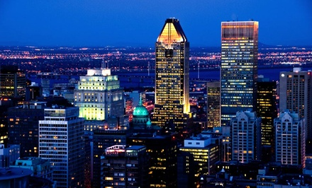groupon daily deal - 1- or 2-Night Stay for Up to Four with Daily Bottle of Wine at Hotel Espresso in Montreal