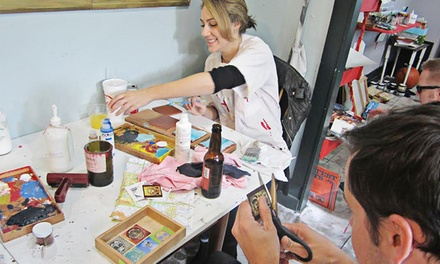 Crafting Sessions with Supplies or Screen Printing Class for One or Two at CRAFT (Up to 50% Off)