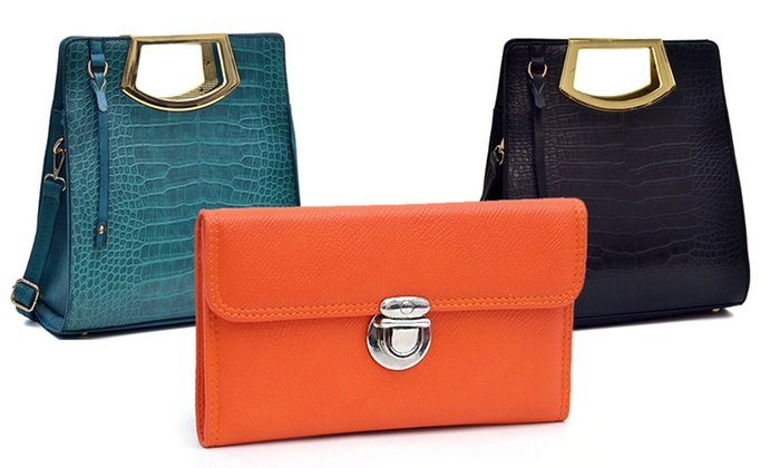 Dasein faux leather wallet or structured croc tote groupon for 88 kirkland salon
