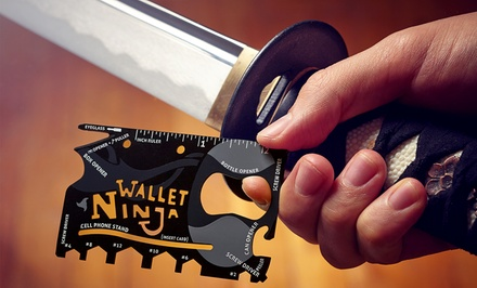 Wallet Ninja 18-in-1 Multitools; 1 for $11.99 or 2 for $19.99