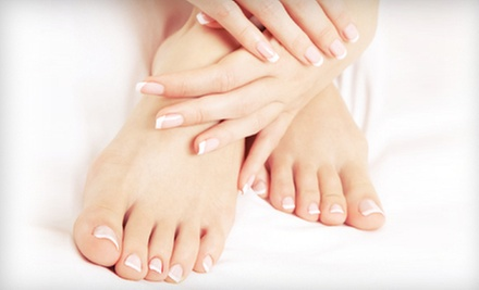 One or Three Mani-Pedis at Q Salon & Spa (Up to 57% Off)