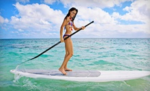 Standup-Paddleboarding Lesson with Equipment Rental for One or Four, or Two Lesons at XSUP (Up to 58% Off)