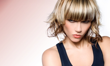 Hair Styling and Coloring at Safié Salon & Day Spa (Up to 71% Off). Three Options Available.