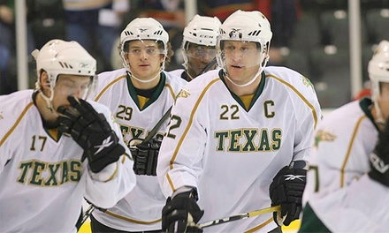 Texas Stars American Hockey League Game for One, Two, or Four at Cedar Park Center on March 12 or 21 (Up to 52% Off)
