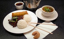 Chinese, Thai and American Dinner for Two or Four at Rickshaw Restaurant & Lounge (Up to 51% Off)