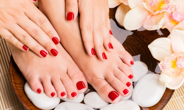 Classic nails - Port Elizabeth: Manicure and Pedicure with French Tips from R144 at Classic Nails (Up to 70% Off)