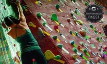 $75 for One Month of Climbing with Gear and Class at Touchstone Climbing (72% Off). Five Locations Available.