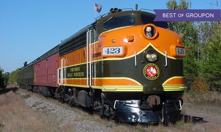 $229 for a Dinner-Train Bed-and-Breakfast Package for Two ($329 Value)