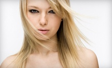 Haircut and Conditioning Treatment with Optional Partial or Full Highlights at Anjee Salon and Day Spa (Up to 56% Off)