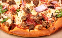$12 for Two Medium Pizzas with Two Toppings To Go at Gino's Pizza ($25.58 Value)