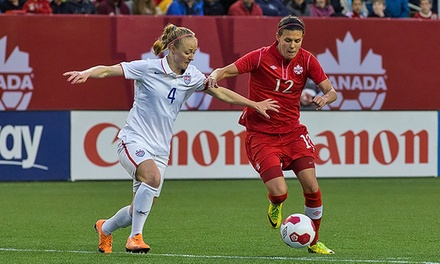 Canada's Women's National Soccer Team against Japan at Commonwealth Stadium on October 25 (45% Off)